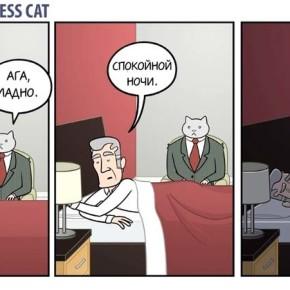 """Большая подборка комиксов """"Бизнес кот""""."""