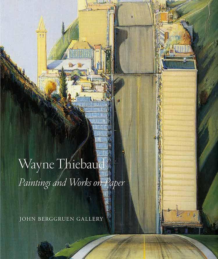 Картины перспективы автомобильных дорог с элементами психоделики от Уэйна Тибо.