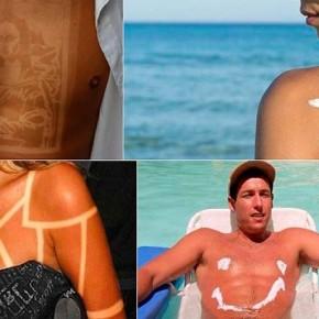 Искусство сгорания на солнце: новый трэнд солнечных татуировок 2015 года.
