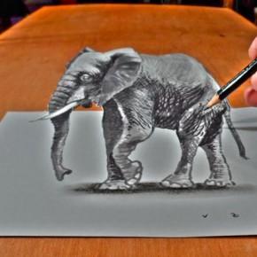Простой и понятный урок как нарисовать 3D рисунок на бумаге.