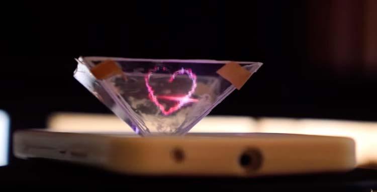 Как из простых и подручных средств сделать 3D-голограмму для смартфона своими руками.