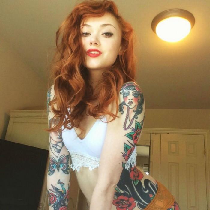 Супергорячие и сексуальные модели с татуировками 2015 года. [20 фото]