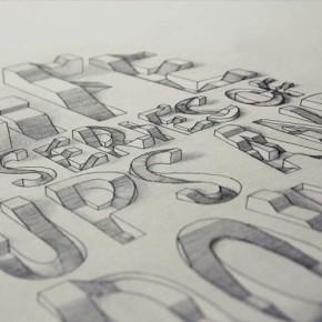 Трехмерная типография от Лекса Вилсона.