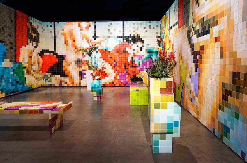 DASTISH FANTASTISH: пиксельная порно-мозайка в художественном музее Бейелера.