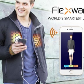 """Flexwarm - умная куртка с климат-контролем, как из фильма """"Назад в будущее 2""""."""