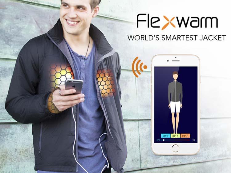 Flexwarm — умная куртка с климат-контролем, как из фильма «Назад в будущее 2».