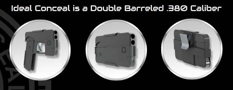 Портативный пистолет в виде смартфона.