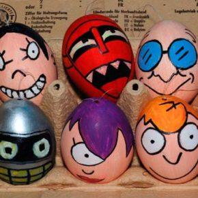 Оригинальные идеи украшения пасхальных яиц.