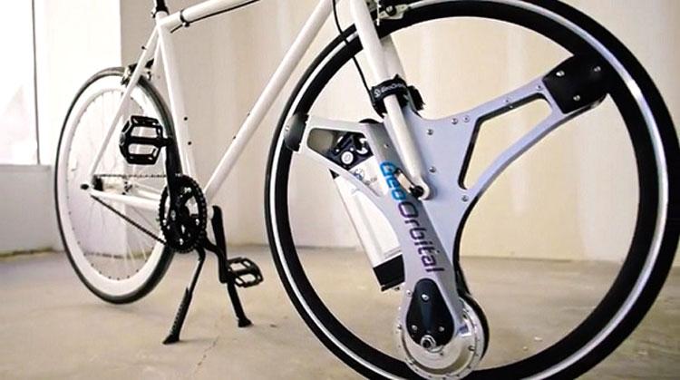 Обычный велосипед в электробайк, благодаря стартапу GeoOrbital