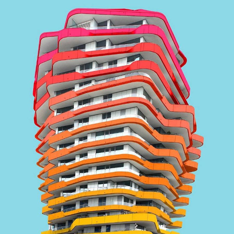 Яркие и красочные фотографии архитектуры от Поля Эйса