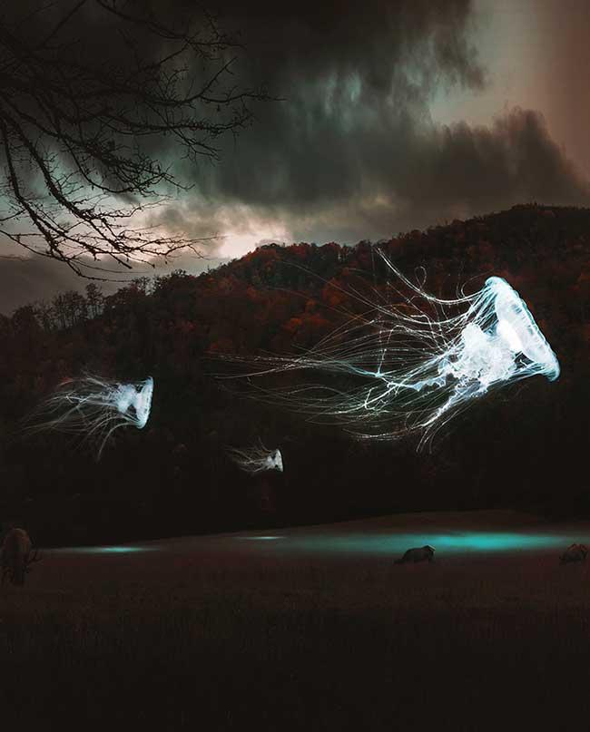 Потусторонний мир в психоделических фотографиях Хусейна Шахина.