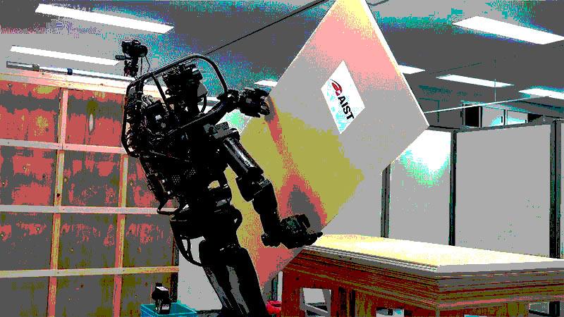 Без халтуры и водки: HRP-5P — первый робот-строитель, который научился монтажу гипсокартона